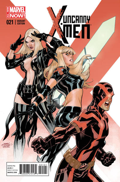 Cover for Uncanny X-Men (Marvel, 2013 series) #21 [Direct Edition]