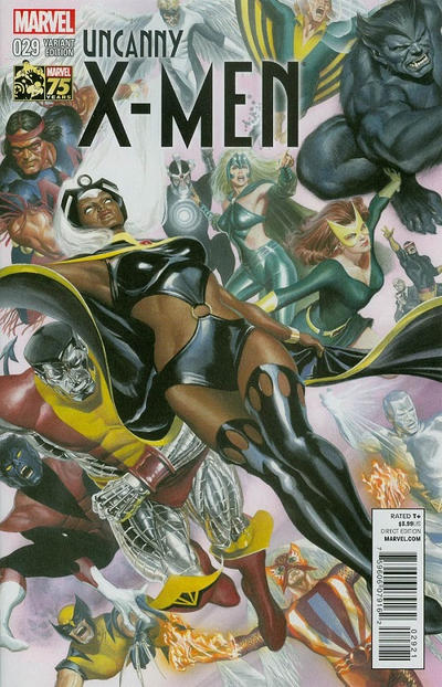 Cover for Uncanny X-Men (Marvel, 2013 series) #29 [Direct Edition]