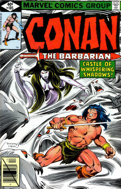 Cover for Conan the Barbarian (Marvel, 1970 series) #105 [Direct Edition]