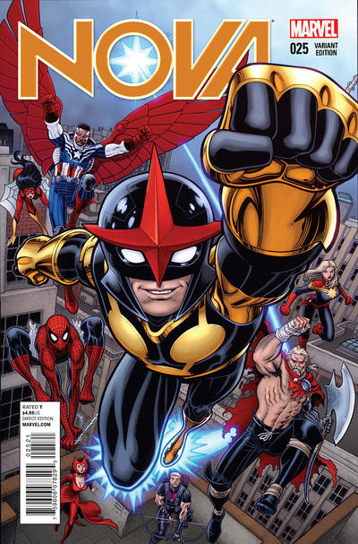 Cover for Nova (Marvel, 2013 series) #25 [Arthur Adams variant]
