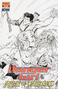 Cover Thumbnail for Danger Girl and the Army of Darkness (Dynamite Entertainment, 2011 series) #4 [Nick Bradshaw Black and White Retailer Incentive Cover]