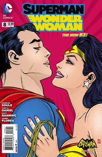 Cover for Superman / Wonder Woman (DC, 2013 series) #8 [Batman '66 Variant Cover]