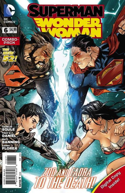 Cover for Superman / Wonder Woman (DC, 2013 series) #6 [Robot Chicken Cover]