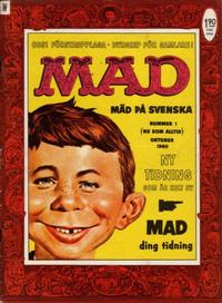 Cover Thumbnail for Mad (Williams Förlags AB, 1960 series) #1/1960