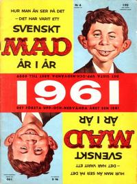 Cover Thumbnail for Mad (Williams Förlags AB, 1960 series) #6/1961