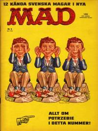 Cover Thumbnail for Mad (Williams Förlags AB, 1960 series) #2/1962