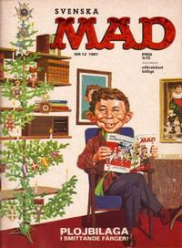Cover Thumbnail for Mad (Williams Förlags AB, 1960 series) #12/1967