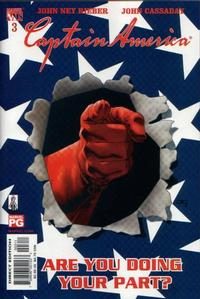 Cover Thumbnail for Captain America (Marvel, 2002 series) #3 [Direct Edition]