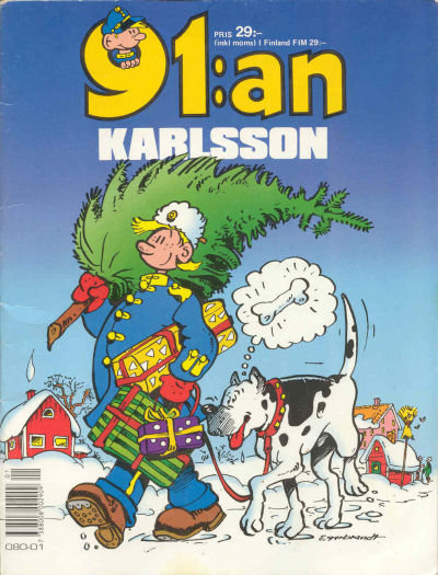 Cover for 91:an Karlsson [julalbum] (Semic, 1981 series) #[1990]
