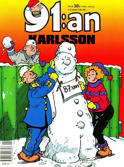 Cover for 91:an Karlsson [julalbum] (Semic, 1981 series) #[1991]