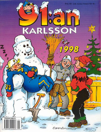 Cover for 91:an Karlsson [julalbum] (Semic, 1981 series) #1998