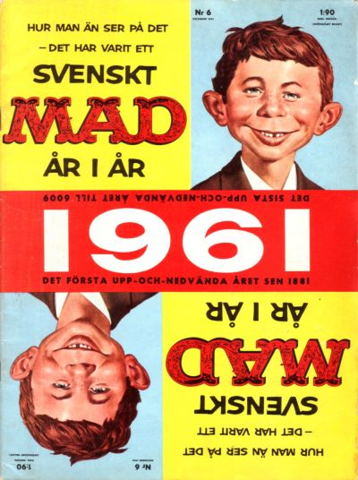 Cover for Mad (Williams Förlags AB, 1960 series) #6/1961