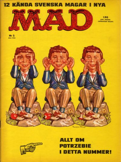 Cover for Mad (Williams Förlags AB, 1960 series) #2/1962