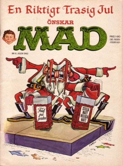Cover for Mad (Williams Förlags AB, 1960 series) #6/1962