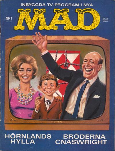 Cover for Mad (Williams Förlags AB, 1960 series) #1/1963