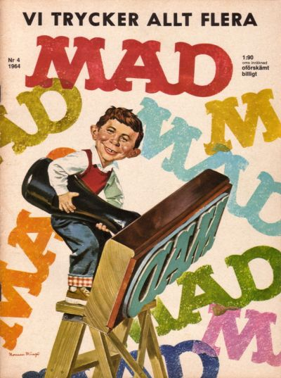 Cover for Mad (Williams Förlags AB, 1960 series) #4/1964