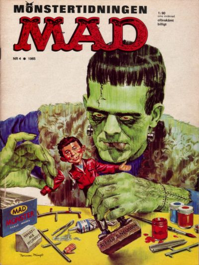 Cover for Mad (Williams Förlags AB, 1960 series) #4/1965