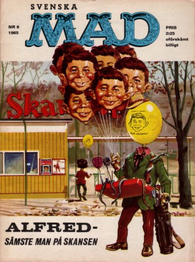 Cover for Mad (Williams Förlags AB, 1960 series) #8/1965