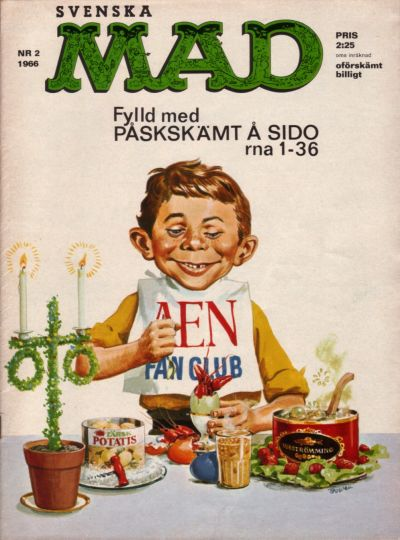 Cover for Mad (Williams Förlags AB, 1960 series) #2/1966