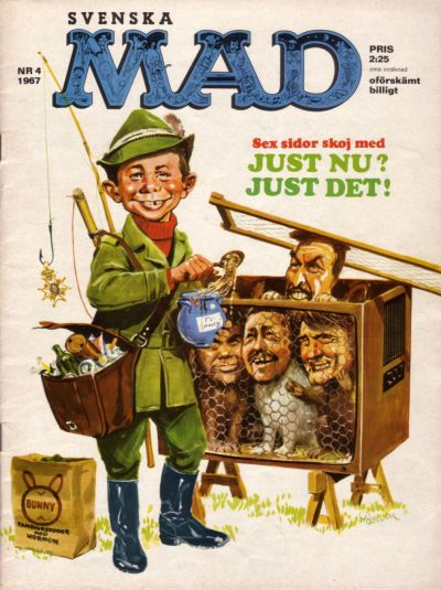 Cover for Mad (Williams Förlags AB, 1960 series) #4/1967