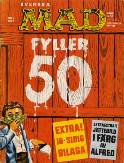 Cover for Mad (Williams Förlags AB, 1960 series) #5/1967