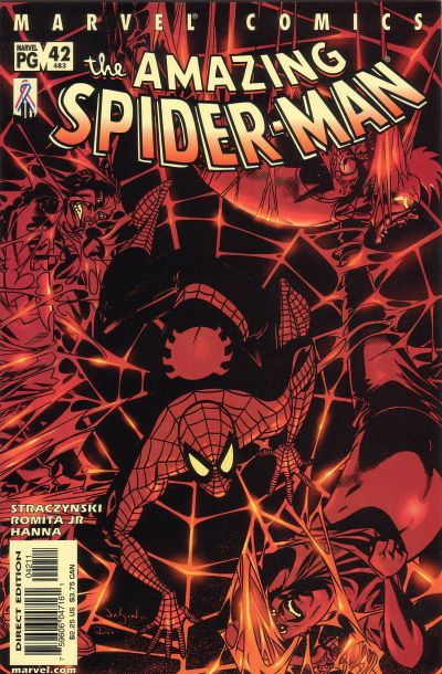 Cover for The Amazing Spider-Man (Marvel, 1999 series) #42 (483) [Direct Edition]