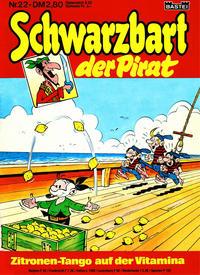 Cover Thumbnail for Schwarzbart der Pirat (Bastei Verlag, 1980 series) #22