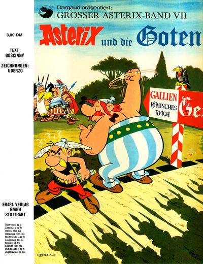 Cover for Asterix (Egmont Ehapa, 1968 series) #7 - Asterix und die Goten [x. Aufl. ]