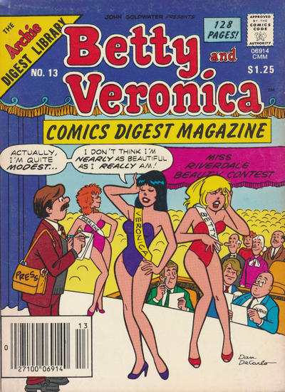 Cover for Betty and Veronica Comics Digest Magazine (Archie, 1983 series) #13