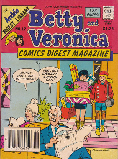 Cover for Betty and Veronica Comics Digest Magazine (Archie, 1983 series) #12