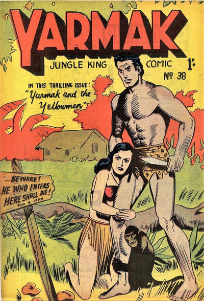 Cover for Yarmak Jungle King Comic (Young's Merchandising Company, 1949 series) #38