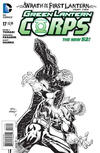 Cover for Green Lantern Corps (DC, 2011 series) #17 [Andy Kubert Black & White Cover]