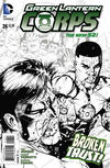 Cover Thumbnail for Green Lantern Corps (2011 series) #26 [Bernard Chang Black & White Cover]