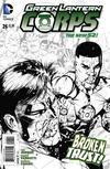 Cover Thumbnail for Green Lantern Corps (2011 series) #26 [Bernard Chang Black & White Cover]