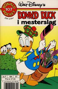 Cover Thumbnail for Donald Pocket (Hjemmet / Egmont, 1968 series) #107 - Donald Duck i mesterslag [1. opplag]