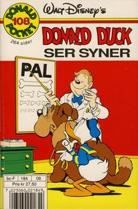 Cover Thumbnail for Donald Pocket (Hjemmet / Egmont, 1968 series) #108 - Donald Duck ser syner [1. opplag]