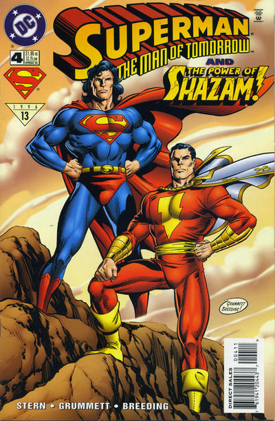 Cover for Superman: The Man of Tomorrow (DC, 1995 series) #4 [Direct Sales]