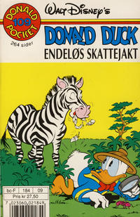 Cover Thumbnail for Donald Pocket (Hjemmet / Egmont, 1968 series) #109 - Donald Duck Endeløs skattejakt [1. opplag]