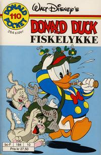 Cover Thumbnail for Donald Pocket (Hjemmet / Egmont, 1968 series) #110 - Donald Duck Fiskelykke [1. opplag]