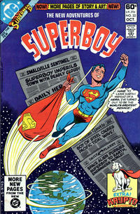 Cover Thumbnail for The New Adventures of Superboy (DC, 1980 series) #22 [Direct]