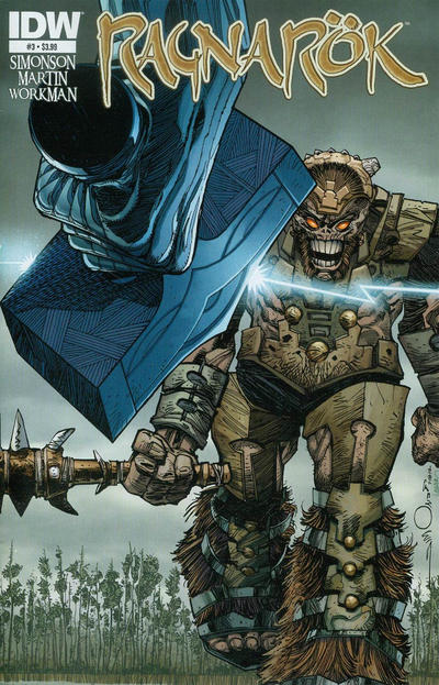 Cover for Ragnarök (IDW, 2014 series) #3 [Subscription Cover]