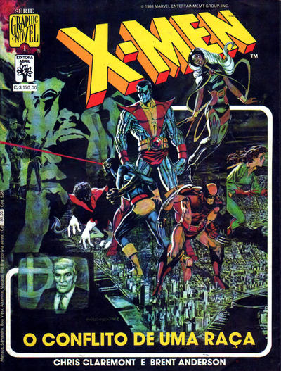 Cover for Graphic Novel (Editora Abril, 1988 series) #1 - X-Men - O Conflito de uma Raça