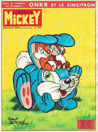 Cover for Le Journal de Mickey (Disney Hachette Presse, 1952 series) #576