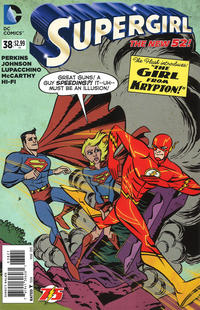 Cover Thumbnail for Supergirl (DC, 2011 series) #38 [Flash 75th Anniversary Cover]