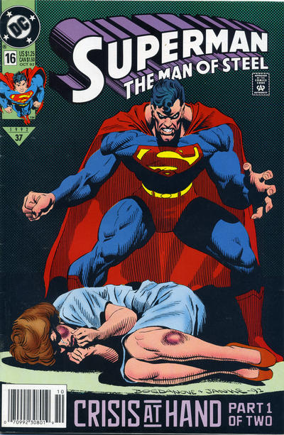 Cover for Superman: The Man of Steel (DC, 1991 series) #16