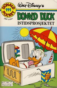 Cover Thumbnail for Donald Pocket (Hjemmet / Egmont, 1968 series) #111 - Donald Duck Istidsprosjektet [1. opplag]