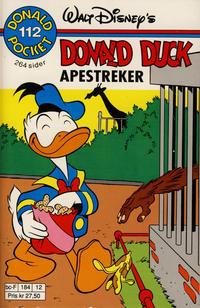 Cover Thumbnail for Donald Pocket (Hjemmet / Egmont, 1968 series) #112 - Donald Duck Apestreker [1. opplag]