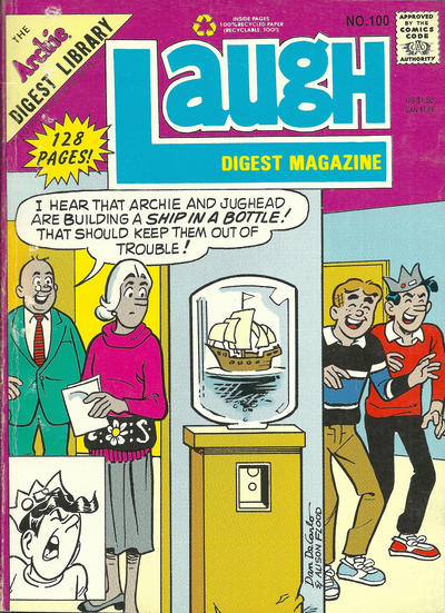 Cover for Laugh Comics Digest (Archie, 1974 series) #100 [Newsstand]