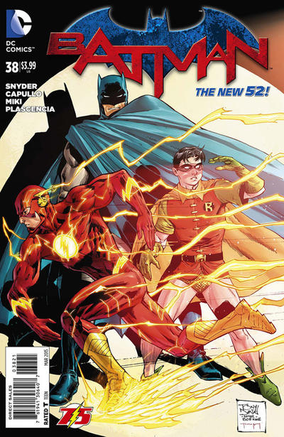 Cover for Batman (DC, 2011 series) #38 [Flash 75th Anniversary Cover]
