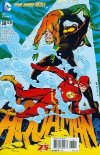 Cover Thumbnail for Aquaman (DC, 2011 series) #38 [Flash 75th Anniversary Cover]